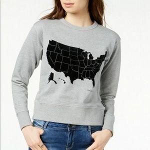 Calvin Klein Tops - NEW! Calvin Klein USA Graphic Sweatshirt • Size M